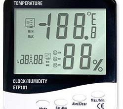 Photo of Termometer Ruangan Digital Thermo-Hygro and Clock ETP101